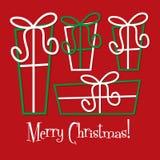 Retro gift Christmas card Royalty Free Stock Image