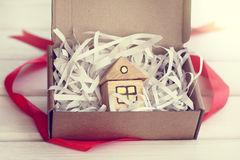 Retro gift house Royalty Free Stock Images