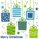 Retro Giften van Kerstmis Stock Foto