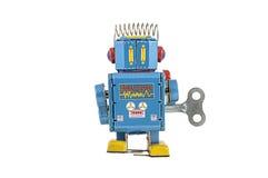 Retro giocattoli del robot isolati Fotografie Stock