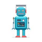 Retro giocattoli dell'annata del robot Fotografie Stock