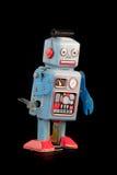 Retro giocattolo del robot Fotografia Stock Libera da Diritti