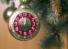 Retro giocattolo dell'albero di Natale Fotografie Stock Libere da Diritti