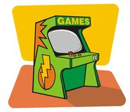 Retro-giochi (vettore) Fotografie Stock