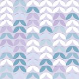 Retro giometric naadloos vectorcirkels lilac document spruit abstract in patroon royalty-vrije illustratie