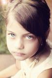 Retro giovane bella ragazza Fotografia Stock Libera da Diritti