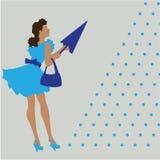 Retro girl Royalty Free Stock Photo