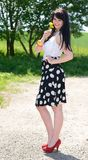 Retro girl Stock Images