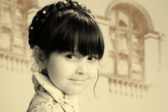 Retro girl Royalty Free Stock Images