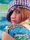 Retro girl Stock Photos