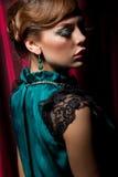 Retro girl royalty free stock photography