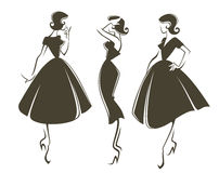 Retro girls Royalty Free Stock Photography
