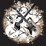 Retro gitaar Royalty-vrije Stock Foto's