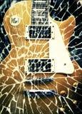 Retro gitaar royalty-vrije illustratie