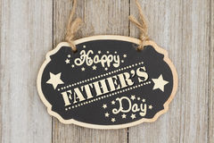 Retro- glückliches Vater ` s Tageszeichen Lizenzfreies Stockfoto