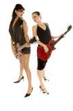 Retro Glam Rock Girls Stock Photos