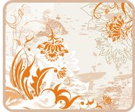 Retro glamour background. With flowers Royalty Free Stock Photos