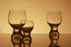 Retro Glass. In yellow photography Royalty Free Stock Image
