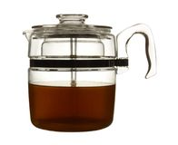Retro glass coffee percolator pot Stock Photo