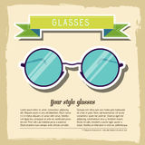 Retro glasses background concept. vector Royalty Free Stock Photography