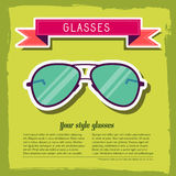 Retro glasses background concept. vector Stock Images
