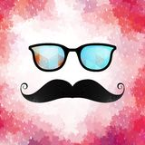 Retro glasses with reflection. EPS 10 Royalty Free Stock Image