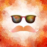 Retro glasses with reflection. EPS 10 Royalty Free Stock Photos