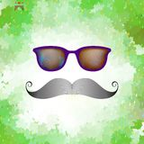 Retro glasses with reflection. EPS 10 Royalty Free Stock Photography