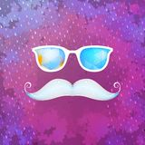 Retro glasses with reflection. EPS 10 Royalty Free Stock Images