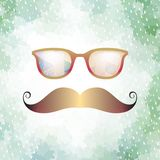 Retro glasses with reflection. EPS 10 Stock Photos