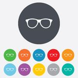 Retro glasses sign icon. Eyeglass frame symbol. Stock Image