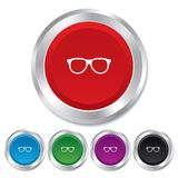 Retro glasses sign icon. Eyeglass frame symbol. Royalty Free Stock Photos