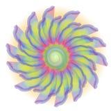 Retro- Gleichheit gefärbte Blumen-Blüte vektor abbildung