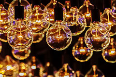 Retro- Glühlampe Lizenzfreie Stockbilder