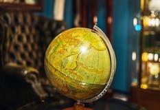Retro globus in antique shop, Bruxelles. Belgium Stock Photography