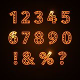 Retro glowing font Royalty Free Stock Images