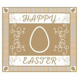 A retro a gold card with jewelry for Easter Stock Images