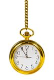 Retro gold clock Royalty Free Stock Images