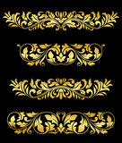 Retro gold floral elements Stock Image