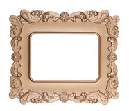 Retro gold frame Royalty Free Stock Photo