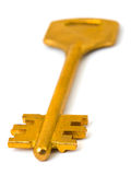Retro gold key stock photos