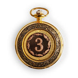 Retro gold pocket watch Royalty Free Stock Photos