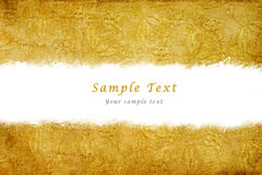 Retro gold textile with copy space Stock Photos