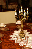 Candlestick with five candles Royalty Free Stock Photography