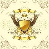 Retro golden emblem Royalty Free Stock Photo