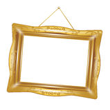 Retro golden frame isolated Royalty Free Stock Image