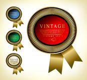 Retro  golden framed label. Premium design elements. Stock Photography