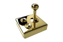 Retro Golden Joystick Stock Photography