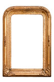 Retro golden old frame, baroque style, (No#7). Retro golden old frame, baroque style, vertical, isolated on white (detailed clipping paths included, using pen stock image