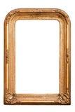Retro golden old frame, baroque style, (No#7). Retro golden old frame, baroque style, vertical,  isolated on white Stock Image